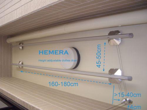航太鋁 手搖升降衣架 雙桿 - HEMERA 升降曬衣架